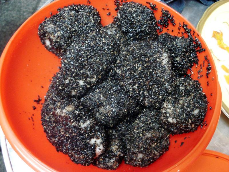Black Sesame Rice Cake